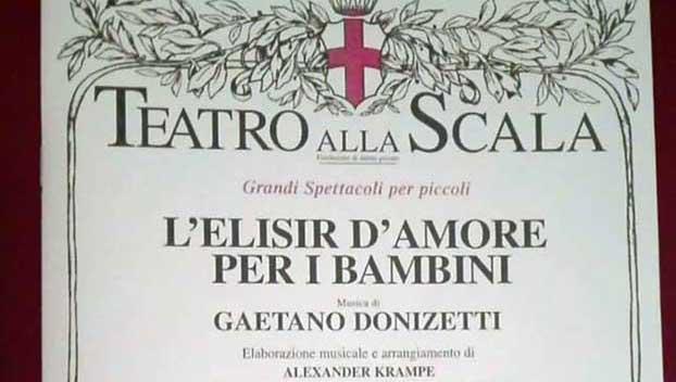 L'elisir d'amore per bambini alla Scala di Milano - dettaglio locandina