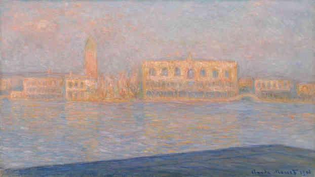 Claude Monet, Il Palazzo Ducale, visto da San Giorgio Maggiore (Le Palais Ducal vu de Saint-Georges Majeur), 1908. Mostre da vedere a settembre a Milano.