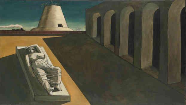 Giorgio de Chirico, Ariadne, 1913. Olio e grafite su tela, 135,3 x 180,3 cm. New York, The Metropolitan Museum of Art. Lascito di Florene M. Schoenborn, 1995. © Giorgio de Chirico by SIAE 2019