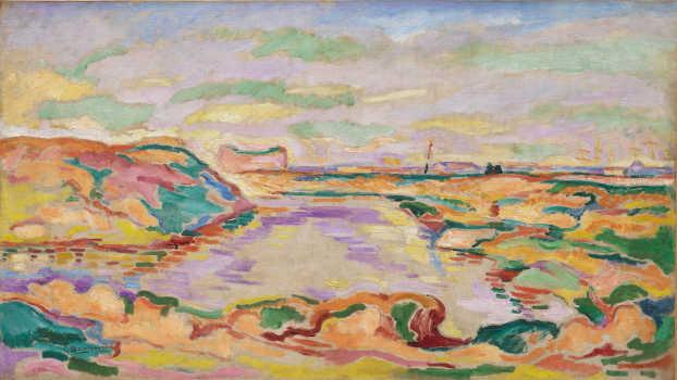 Georges Braque, Paesaggio nei pressi di Anversa (Paysage près d'Anvers), 1906. Olio su tela, 60 x 81 cm. Solomon R. Guggenheim Museum, New York, Thannhauser Collection, Donazione Justin K. Thannhauser.