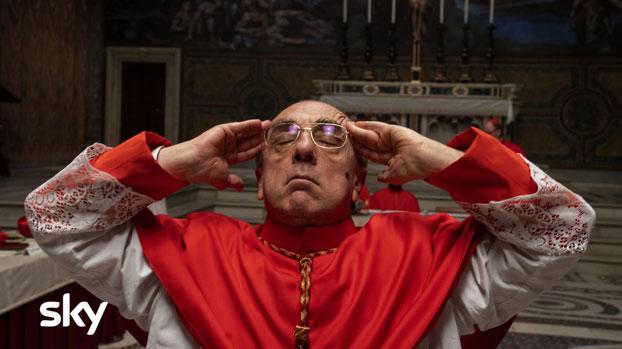 Silvio Orlando è il Cardinal Voiello in The New Pope. Photo: Gianni Fiorito