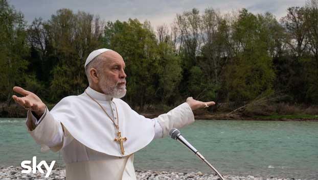 John Malkovich in The New Pope. Photo: Gianni Fiorito.